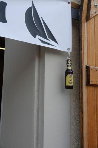 Segelfreunde-Bierflasche